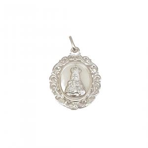 Medalla ovalada nácar